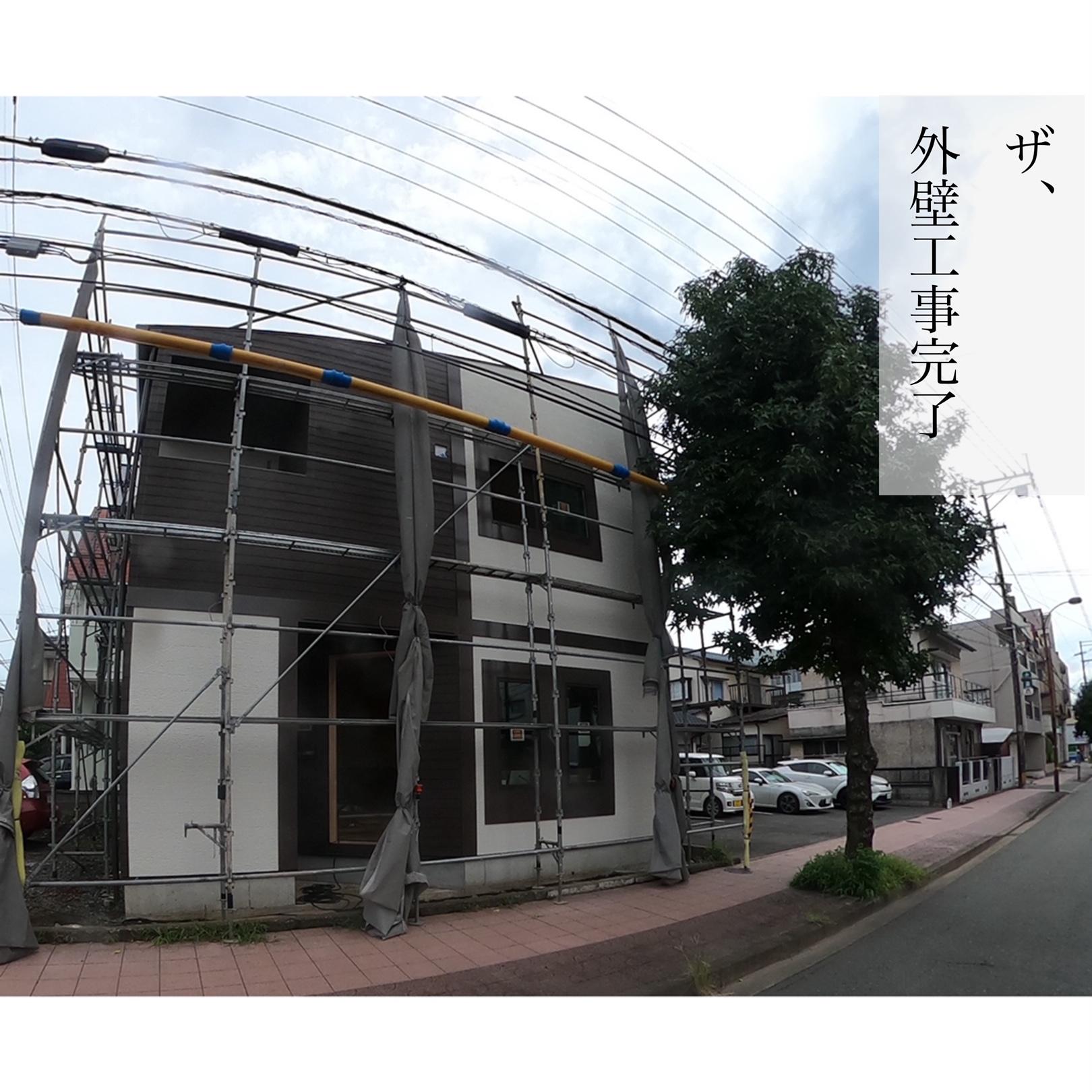 熊本市東区美容室新築工事 外壁工事完了